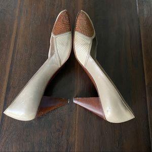 Bruno Magli Bologna Women Leather High Heels SZ 8B